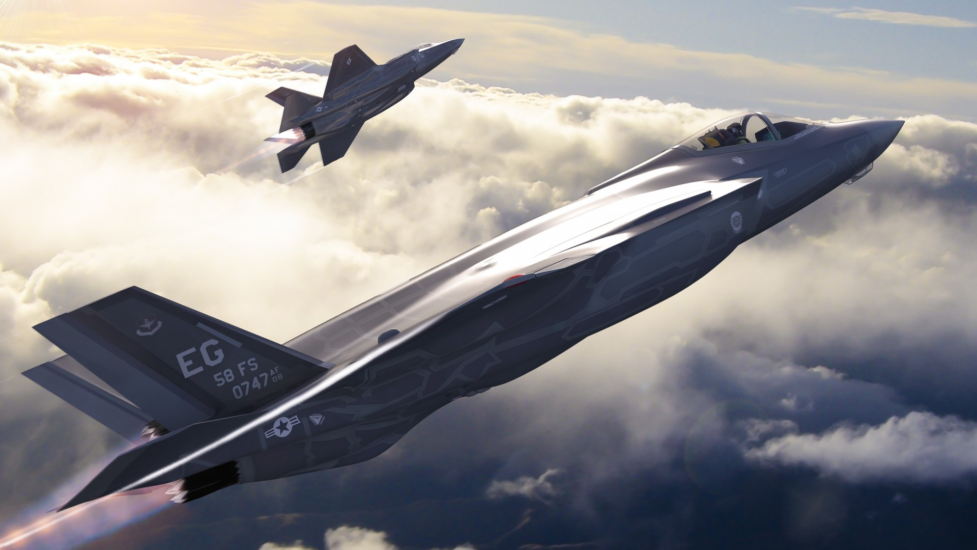 F-35-Flying-With-Clouds-Cool-Image